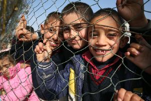 Syrian children at a refugee camp in Lebanon. Picture: PA