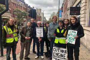 Members of Extinction Rebellion Leeds after a protest in May 2019.
