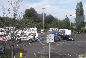 Travellers in the park and ride in King Lane.