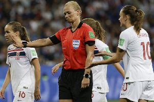 Women's World Cup action.