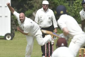 Woodlands bowler Chris Brice who took 3-30 off 15 overs against Farsley.