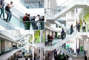 Leeds College of Building has just opened phase two of its South Bank campus development,at a cost of 13 million.