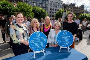 The unveiling of a blue plaque for Catherine Mawer and the Mawer Group of sculptors.