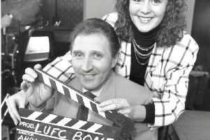Sgt Wilko, pictured here with make-up artist Lisa Rushworth, faced thecameras and waited for the cry of 'action