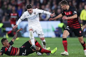 Pablo Hernandez in action for Leeds United in Sydney. (Getty)