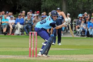 Yorkshire's Harry Brook, pictured in Saturday's defeat at Derbyshire. Picture: Tony Johnson.