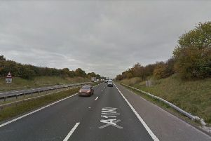 The woman died on the A1M motorway