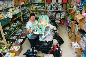 Jackie Appleton at the Leeds Baby Bank based in the St John's Centre.