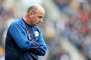 NOT IMPRESSED: Wigan Athletic boss Paul Cook. Photo by Lewis Storey/Getty Images.