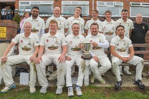 Yeadon, winners of the Bradford League Jack Hampshire Cup after beating Birstall in the final. PIC: Ray Spencer Photography
