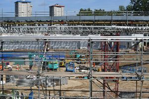 The construction site for the HS2 high speed rail scheme in Euston, London. PRESS ASSOCIATION Photo. Picture date: Friday August 23, 2019. Photo credit should read: Victoria Jones/PA Wire