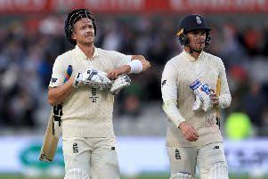 IN THE SQUAD: England's Joe Denly (left) and Jason Roy. Picture: Mike Egerton/PA