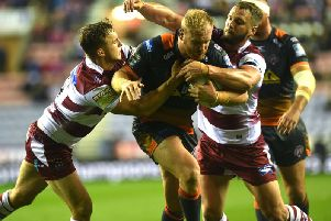 Castleford's Oli Holmes, who was one of the side's better players against Wigan. (PIC:JONATHAN GAWTHORPE)