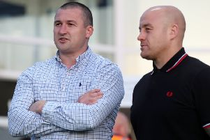 Key encounter: Victory for Wakefield coach Chris Chester, left, meant relegation for Danny Ward, right, and his Broncos.