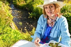 Anita Bowerman who is artist in residence at RHS Harlow Carr''Picture: Simon Dewhurst