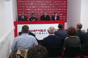 Sheffield United's press conference on Thursday afternoon.