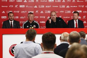 Sheffield United owner Prince Abdullah speaks at Thursday's press conference. Picture: Simon Bellis/Sportimage