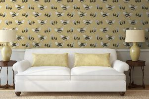 Kim's wallpaper designs feature, among other things, bees. (JPIMedia).