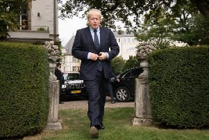 Prime Minister Boris Johnson during his recent visit to Luxembourg.
