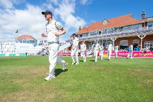 Ready to lead again: Yorkshire's Steve Patterson against Surrey at Scarborough.