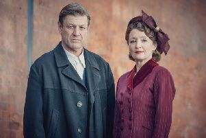 Sean Bean plays pacifist Douglas Bennett in the Second World War drama series World On Fire; seen here with Lesley Manville. (BBC)