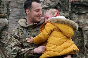 Soldiers from 2nd Battalion the Yorkshire Regiment attended a service at Richmond Castle with their families (Photo: Simon Hulme).