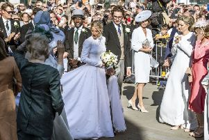 Newly married Ellie Goulding and Caspar Jopling leave York Minster after their wedding. Picture: Danny Lawson/PA Wire