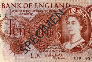 The 10-shilling note