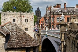 River House, on the right, is home to York's flagship Pizza Express