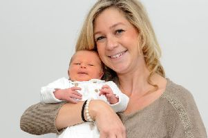 Clare Gill with son Vinnie.'Picture: Tony Johnson