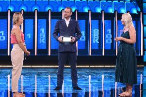 Danny Dyer with Helen McDonald and Louise Seymour on The Wall. Credit: BBC.