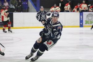 NEW ADDITION: Lewis Charnock has returned to the ice with Leeds Chiefs. Picture courtesy of of Cerys Molloy.