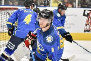 ON TARGET: Adam Barnes scored a hat-trick for Leeds Chiefs in a 4-0 win at Riaders IHC. Picture courtesy of Steve Brodie.