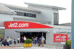 Library image of Jet2.com's base at Leeds Bradford airport.