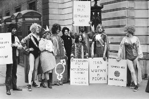 A demonstration in London by the newly-formed Gay Liberation Front in 1971. (Photo by McCarthy/Daily Express/Getty Images)