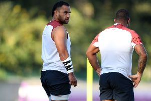 England's Billy Vunipola during a training session.