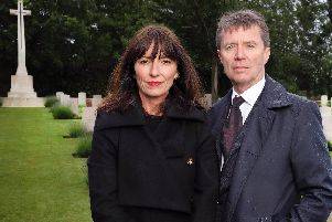 Davina McCall and Nicky Campbell. Credit: ITV.