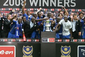2008 FA Cup winners Portsmouth travel to Harrogate Town in the first round next month.