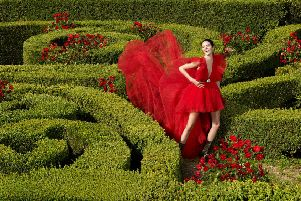 Kendall Jenner in the Giambattista Valli x H&M campaign