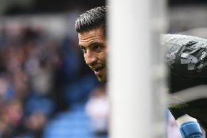NO WAY THROUGH: Leeds United goalkeeper, Kiko Casilla. Picture: George Wood/Getty Images.