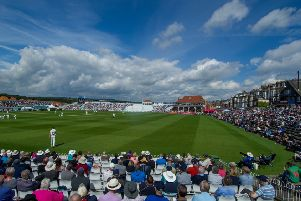 Cricketing fans enjoying the action at Scarborough's North Marine Ground. Picture: James Hardisty.