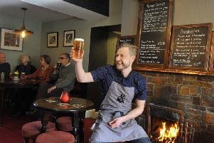 Stuart Miller, the landlord of the George and Dragon pub at Hudswell 'Picture:Gary Longbottom