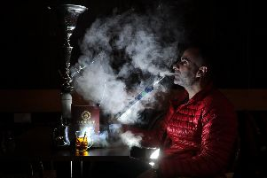 Ghassan Bateha has added a shisha lounge to his restaurant called Ugarit in Huddersfield. Picture: Simon Hulme