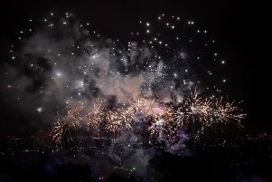 The firework display during the Alexandra Palace Firework Festival in London. Picture: Aaron Chown/PA Wire