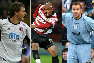 Phil Jagielka, left, El-Hadji Diouf and Nicky Weaver.
