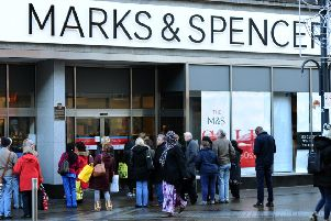 Marks & Spencer on Briggate in Leeds. Picture: Jonathan Gawthorpe
