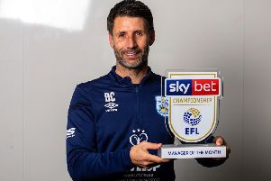 Danny Cowley of Huddersfield Town wins the Sky Bet Championship Manager of the Month award. Picture: Robbie Stephenson/JMP