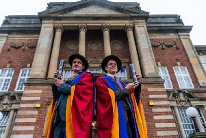 Leeds Beckett University has awarded Honorary Doctorates to local Olympians, Alistair Brownlee MBE and his brother Jonathan Brownlee. 'The Pair made Olympic glory in 2012 becoming the first British brothers in more than 100 years to stand on an Olympic podium together in an individual event. The Yorkshire brothers will receive their Honorary Doctorates in a ceremony held at Leeds Beckett University Headingley Campus.'Picture: James Hardisty..