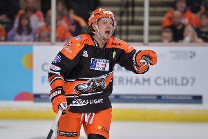 MISSING IN ACTION: 'Sheffield Steelers' Marc-Olivier Vallerand will miss Saturday's clash at Cardiff. 'Picture: Dean Woolley.