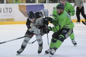 DOGFIGHT: Hull Pirates' player-coach Jason Hewitt, right, expects Leeds Chiefs to prove dogged opponents tonight. Picture: Tony Sargent.